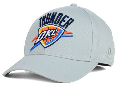 Oklahoma City Thunder adidas NBA Gray Run and Gun Flex Cap