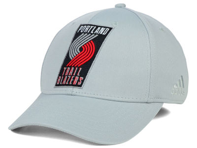 Portland Trail Blazers adidas NBA Gray Run and Gun Flex Cap