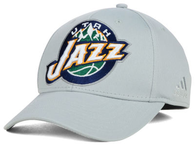 Utah Jazz adidas NBA Gray Run and Gun Flex Cap