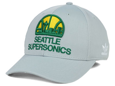 Seattle SuperSonics adidas NBA Gray Run and Gun Flex Cap