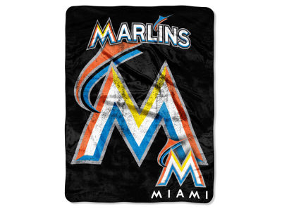 Miami Marlins Micro Raschel 46x60 Triple Play