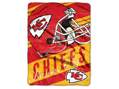 Kansas City Chiefs Micro Raschel 46x60 Deep Slant