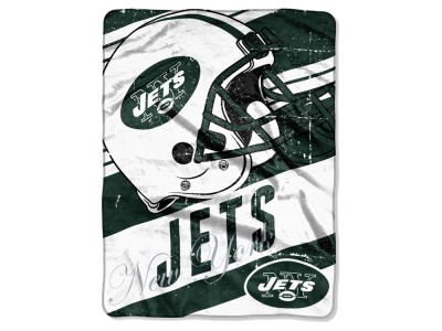 New York Jets Micro Raschel 46x60 Deep Slant