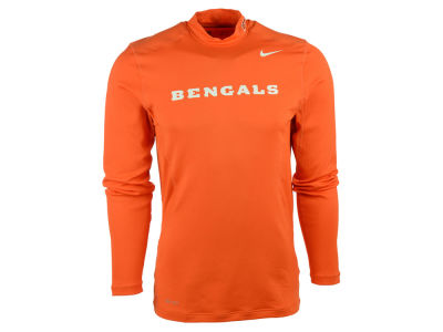 Cincinnati Bengals Nike NFL Men's Mock Hyperwarm Long Sleeve T-Shirt