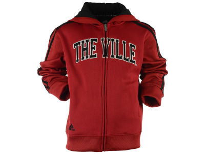 Louisville Cardinals adidas NCAA Men's Full Zip Hooded Sweatshirt