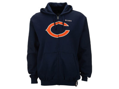 Chicago Bears NFL Men's Full Zip Heavy Weight Hoodie