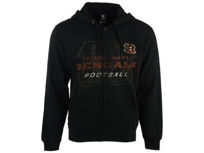 Cincinnati Bengals NFL Men's Faded Touchback Full Zip Hoodie