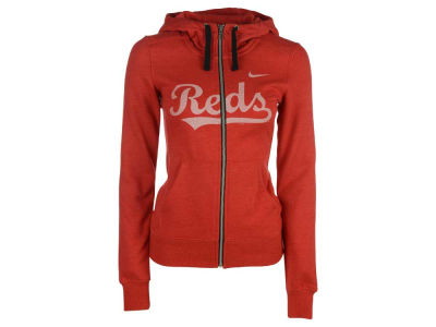 Cincinnati Reds Nike MLB Women's Full Zip Hoodie