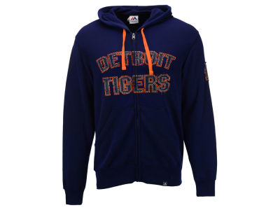 Detroit Tigers MLB Men's Classic Full Zip Hoodie