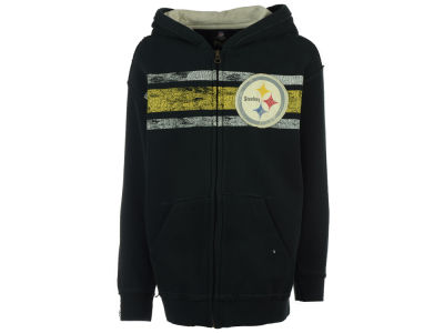 Pittsburgh Steelers NFL Youth Full Zip Fan Hoodie