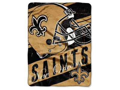 New Orleans Saints Micro Raschel 46x60 Deep Slant
