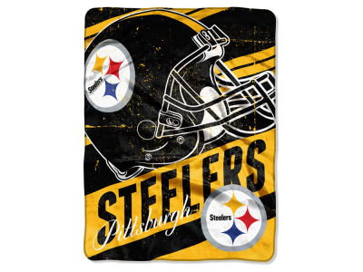 Pittsburgh Steelers Micro Raschel 46x60 Deep Slant