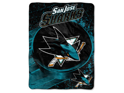 "San Jose Sharks Micro Raschel 46x60 ""Ice Dash"""