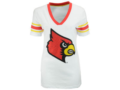 Louisville Cardinals NCAA Womens Glimmer T-Shirt