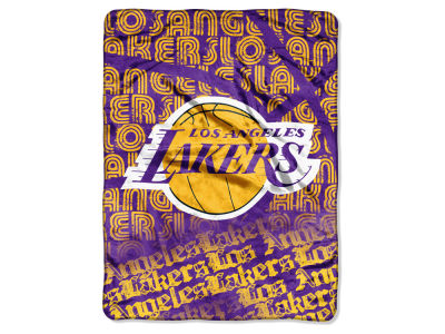 "Los Angeles Lakers Micro Raschel Throw 46x60 ""Redux"""