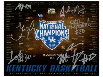 Kentucky Wildcats 8x10 Autographed Team Bracket