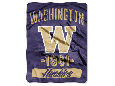 "Washington Huskies The Northwest Company Micro Raschel 46x60 ""Halftone"" Blanket"