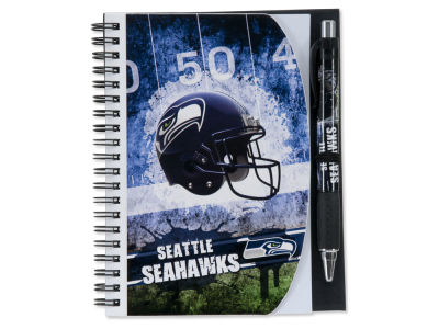Seattle Seahawks 5x7 Spiral Notebook And Pen Set