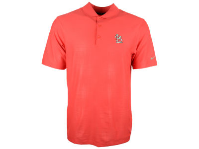 St. Louis Cardinals Nike Golf MLB Men's Key Embossed Polo Shirt