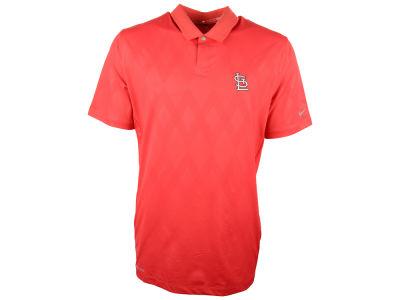 St. Louis Cardinals Nike Golf MLB Men's TW Seasonal Emboss Polo Shirt