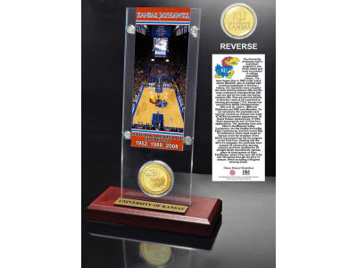 Kansas Jayhawks Ticket and Coin Acrylic