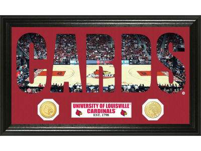 Louisville Cardinals Bronze Coin Photo Word Art