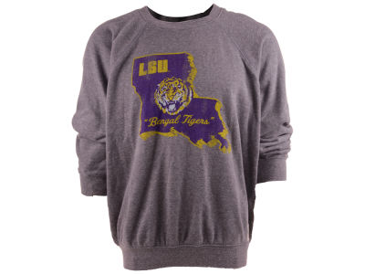 LSU Tigers Retro Brand NCAA Triblend Crew Fleece