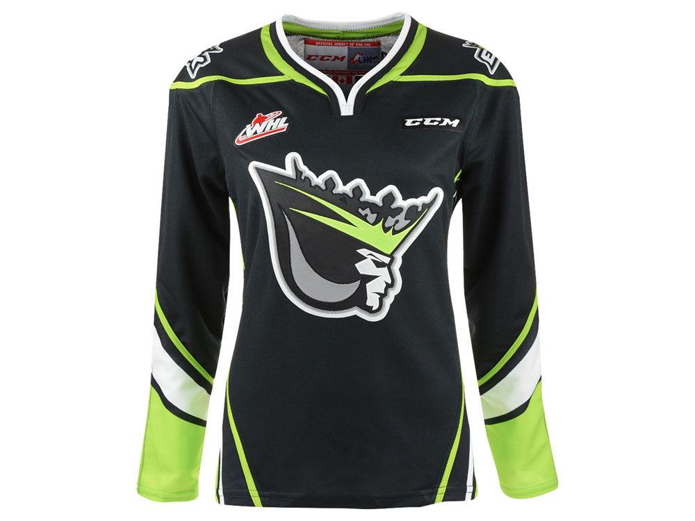 Edmonton Oil Kings Reebok WHL Women s Premier Jersey  9c348ae299