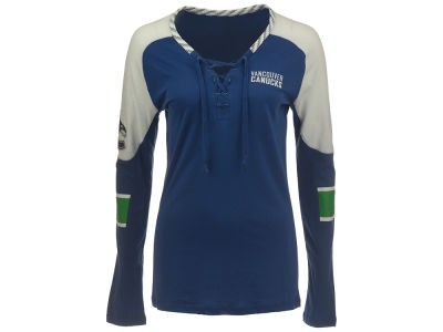Vancouver Canucks Reebok NHL CN Women's Long Sleeve Hockey T-Shirt