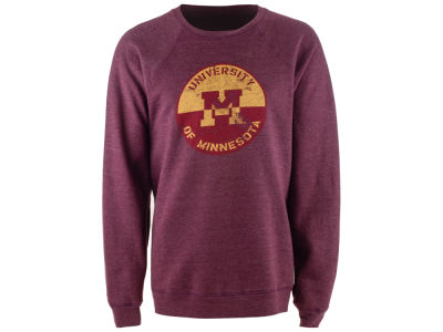 Minnesota Golden Gophers Retro Brand NCAA Triblend Crew Fleece