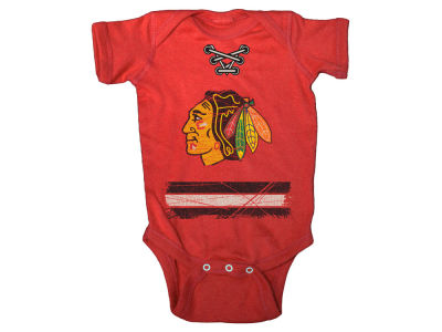 Chicago Blackhawks NHL Infant Beeler Laces Creeper