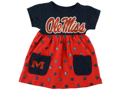 Ole Miss Rebels NCAA Newborn Polka Dot Dress