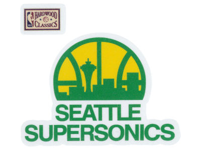 Seattle SuperSonics 4x4 Die Cut Decal Color
