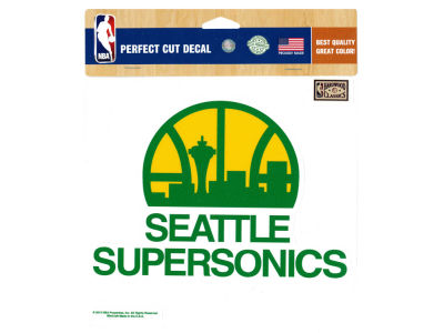 Seattle SuperSonics Die Cut Color Decal 8in X 8in