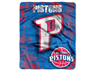 Detroit Pistons 50x60in Plush Throw Drop Down