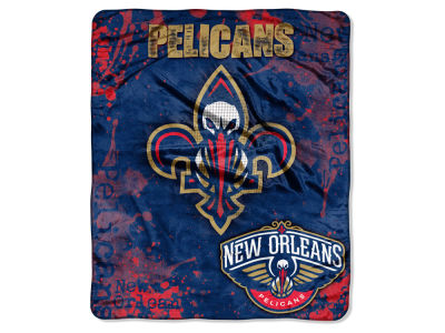 New Orleans Pelicans 50x60in Plush Throw Drop Down