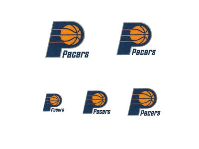 Indiana Pacers Tattoo Nail