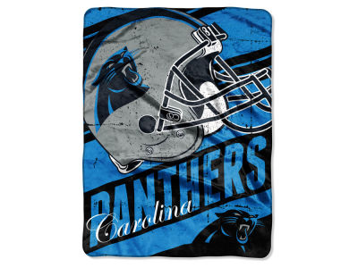 Carolina Panthers Micro Raschel 46x60 Deep Slant