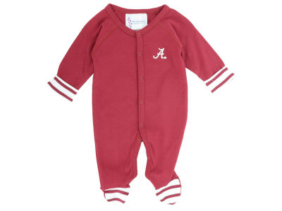 Alabama Crimson Tide NCAA Newborn Footed Stripe Creeper