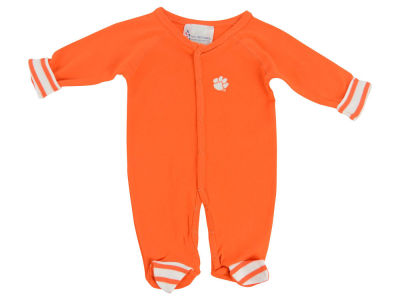 Clemson Tigers NCAA Newborn Footed Stripe Creeper