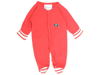 Georgia Bulldogs NCAA Newborn Footed Stripe Creeper