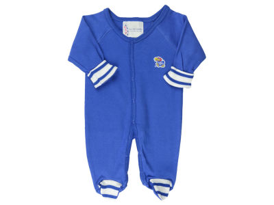Kansas Jayhawks NCAA Newborn Footed Stripe Creeper
