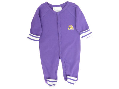 LSU Tigers NCAA Newborn Footed Stripe Creeper