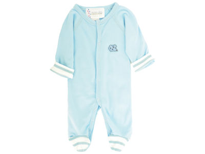 North Carolina Tar Heels NCAA Newborn Footed Stripe Creeper