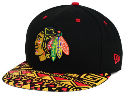 Chicago Blackhawks New Era NHL Cross Colors 9FIFTY Snapback Cap
