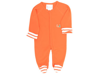 Miami Hurricanes NCAA Infant Striped Footed Creeper
