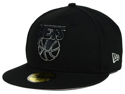 New Jersey Nets New Era NBA HWC Black on Color 59FIFTY Cap