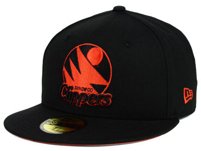 San Diego Clippers New Era NBA HWC Black on Color 59FIFTY Cap