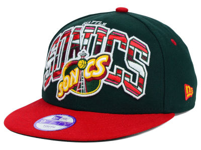 Seattle SuperSonics New Era NBA HWC Youth Out of Line 9FIFTY Snapback Cap