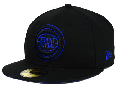 Detroit Pistons New Era NBA HWC Black on Color 59FIFTY Cap